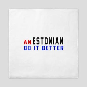 Estonia Do It Better Queen Duvet