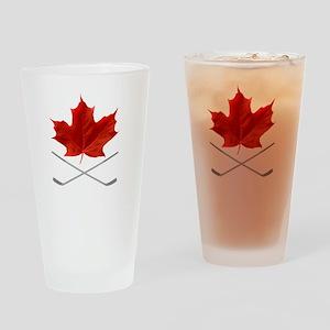 Canada-Hockey-6-whiteLetters copy Drinking Glass