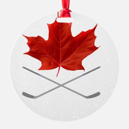 Canada-Hockey-6-whiteLetters copy Ornament