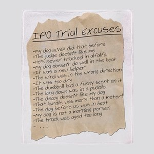 IPO Trial Excuses Throw Blanket