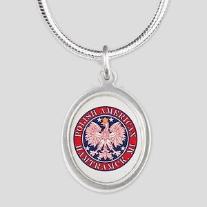 Hamtramck Michigan Polish Silver Oval Necklace