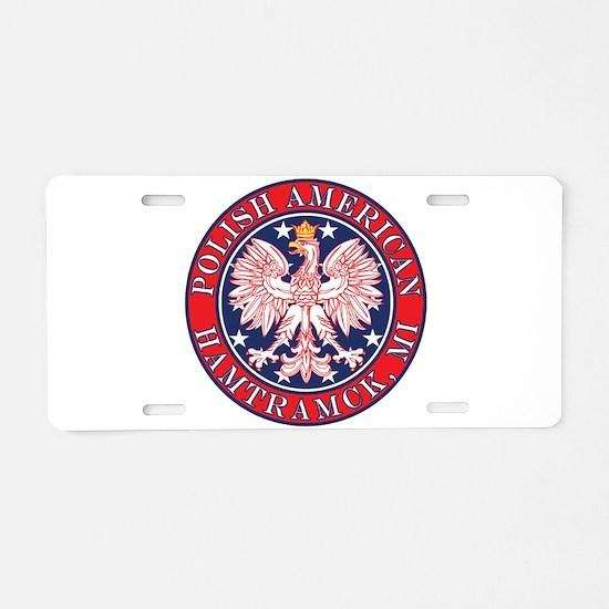 Hamtramck Michigan Polish Aluminum License Plate