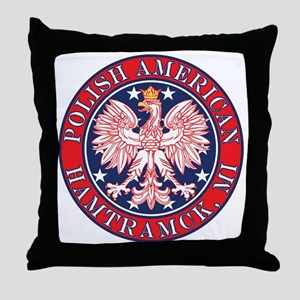 Hamtramck Michigan Polish Throw Pillow