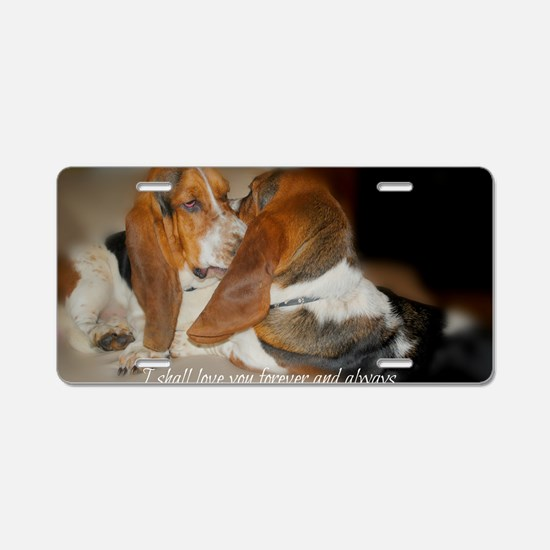 Rescue a hound today Aluminum License Plate