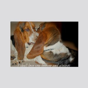 Rescue a hound today Rectangle Magnet