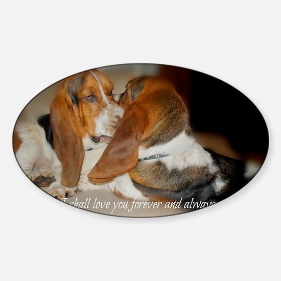 Rescue a hound today Sticker (Oval)
