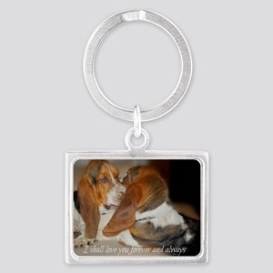 Rescue a hound today Landscape Keychain