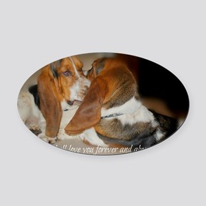 Rescue a hound today Oval Car Magnet