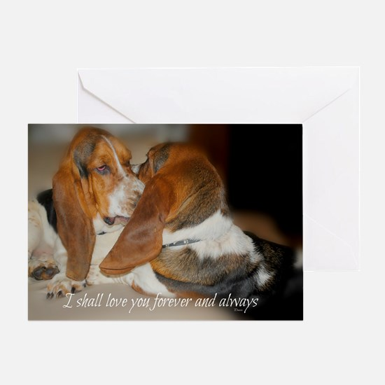 Basset hound greeting cards cafepress rescue a hound today greeting card bookmarktalkfo Gallery