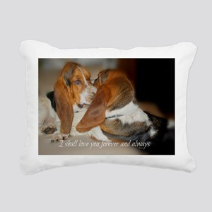 Rescue a hound today Rectangular Canvas Pillow