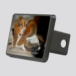 Rescue a hound today Rectangular Hitch Cover