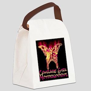 Courage Girl Motorsports Full Log Canvas Lunch Bag