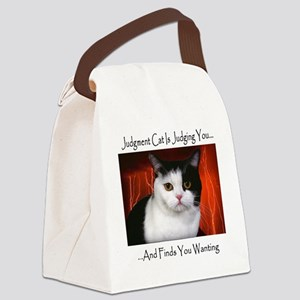 Judgment Cat Canvas Lunch Bag