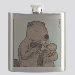 Mother Beaver and Baby Flask
