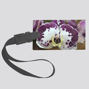 Inkblot Moth Orchid Large Luggage Tag