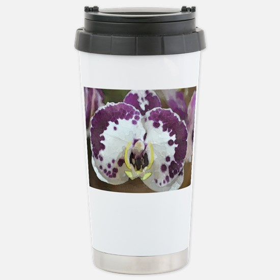 Inkblot Moth Orchid Stainless Steel Travel Mug