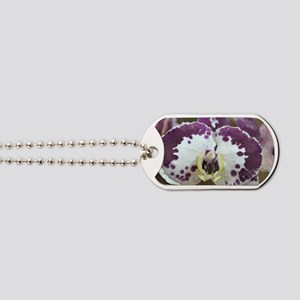 Inkblot Moth Orchid Dog Tags