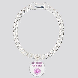 This Chicks on Fire Charm Bracelet, One Charm