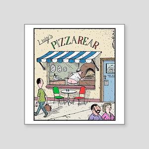 "Luigis Pizzarear Square Sticker 3"" x 3"""