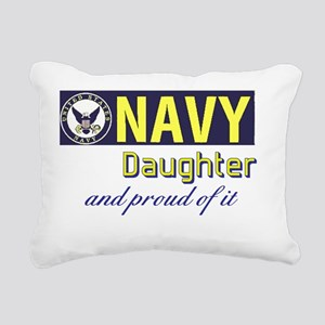 Navy Daughter Rectangular Canvas Pillow