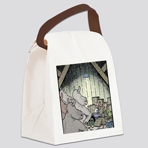 Angry Rhinos Canvas Lunch Bag