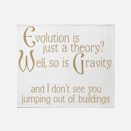 Evolutionary Theory Throw Blanket