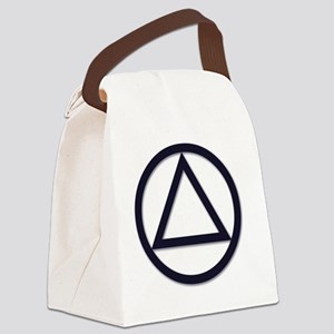 AA_symbol_dark Canvas Lunch Bag