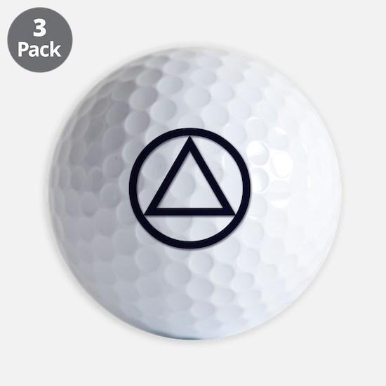 AA_symbol_dark Golf Ball