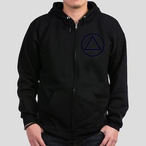 AA_symbol_dark Zip Hoodie (dark)