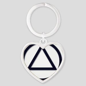AA_symbol_dark Heart Keychain