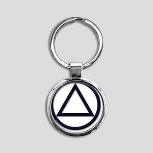 AA_symbol_dark Round Keychain