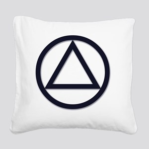 AA_symbol_dark Square Canvas Pillow
