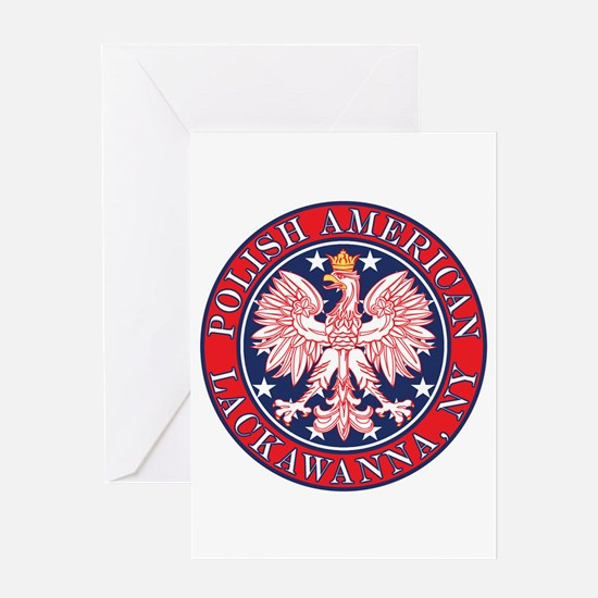 Lackawanna New York Polish Greeting Card