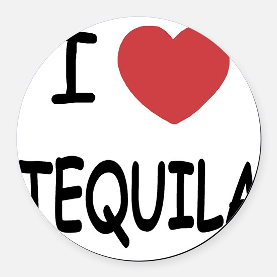 TEQUILA Round Car Magnet