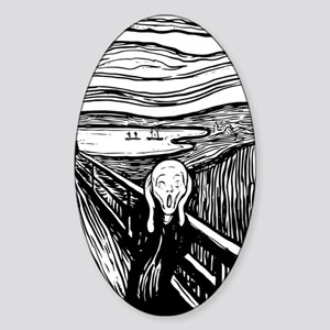 The Scream Sticker (Oval)