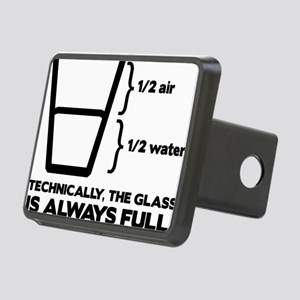 Glass Rectangular Hitch Cover