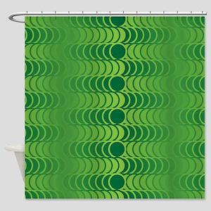 70S-MOD-GREEN-queen-duvet Shower Curtain