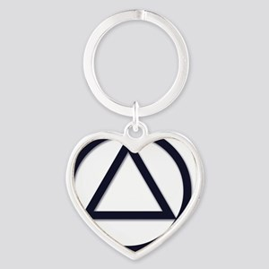 A.A._symbol_LARGE Heart Keychain