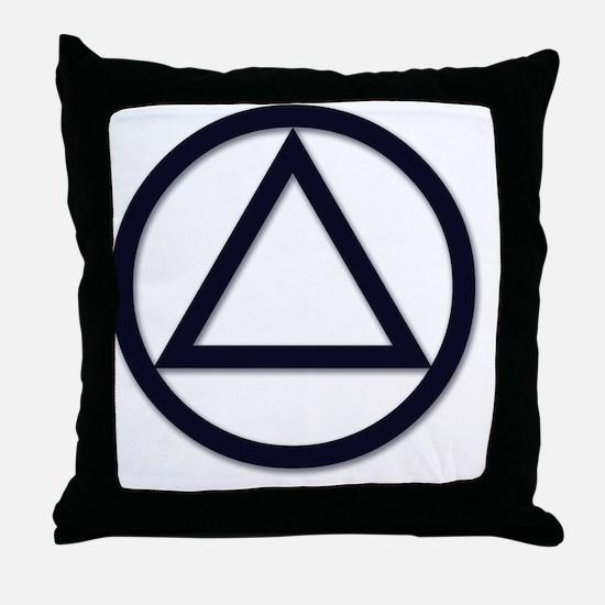 A.A._symbol_LARGE Throw Pillow
