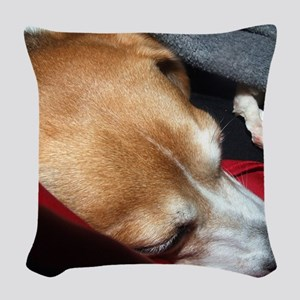 Let Sleeping Dogs Lie Woven Throw Pillow