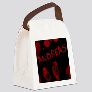 Andreas, Bloody Handprint, Horror Canvas Lunch Bag
