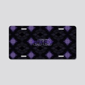 Purple Diamonds Aluminum License Plate