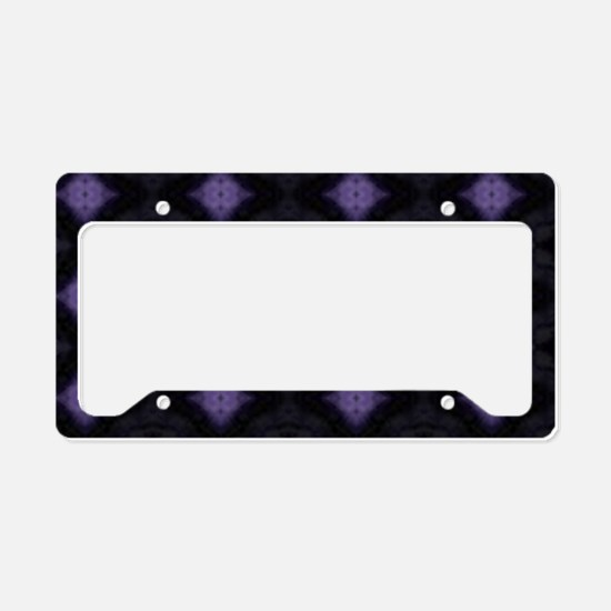 Purple Diamonds License Plate Holder