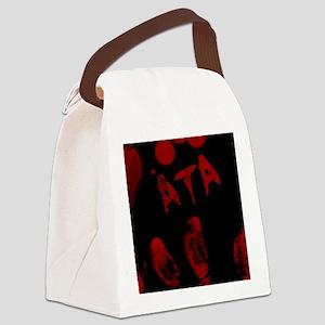 Ata, Bloody Handprint, Horror Canvas Lunch Bag