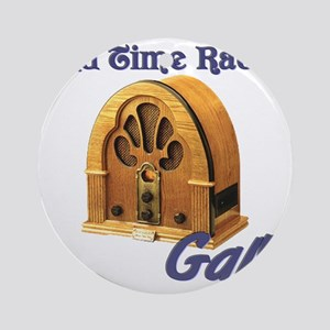 Old Time Radio Gal Round Ornament
