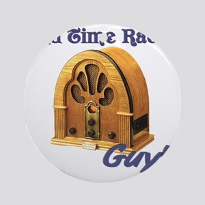 Old Time Radio Guy Round Ornament