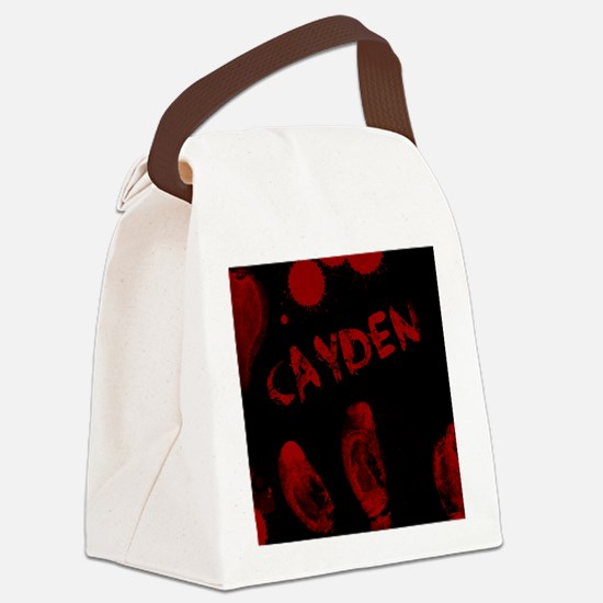 Cayden, Bloody Handprint, Horror Canvas Lunch Bag