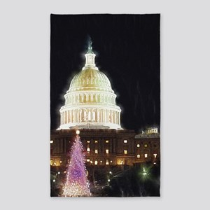 Christmas For The Capitol 3'x5' Area Rug