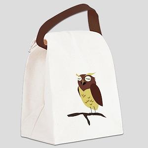 Cute Cartoon Owl Canvas Lunch Bag