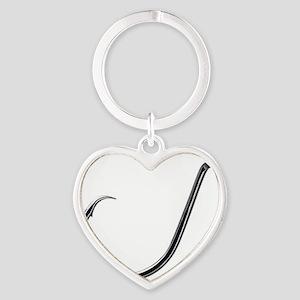 Circle Hook Heart Keychain